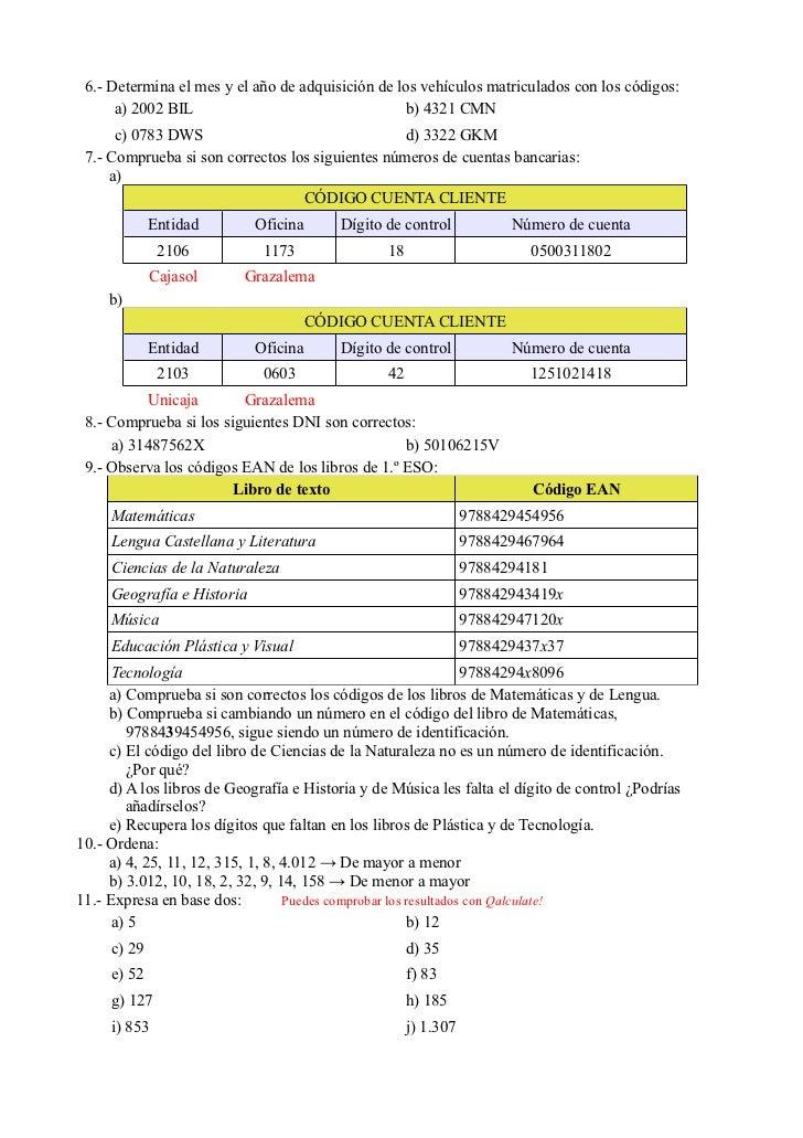 Ejercicios propuestos n meros naturales for Oficinas de unicaja en madrid