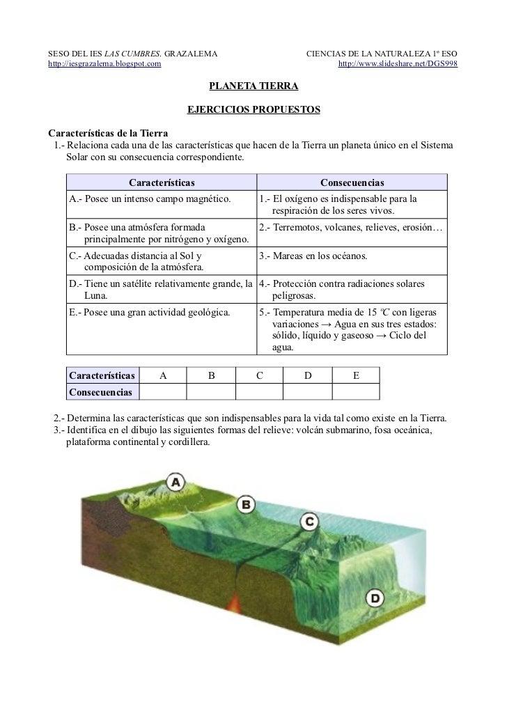 Ejercicios propuestos: PLANETA TIERRA