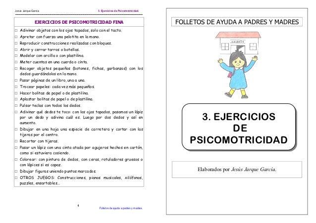 Jesús Jarque García                            3. Ejercicios de Psicomotricidad.               EJERCICIOS DE PSICOMOTRICID...