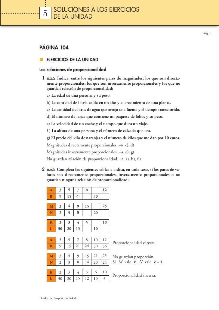 SOLUCIONES A LOS EJERCICIOS  5        DE LA UNIDAD                                                                        ...