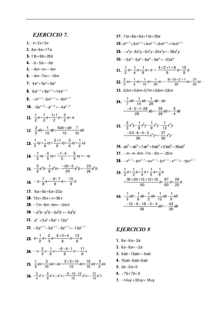 Ejercicios resueltos de el algebra de baldor Slide 2