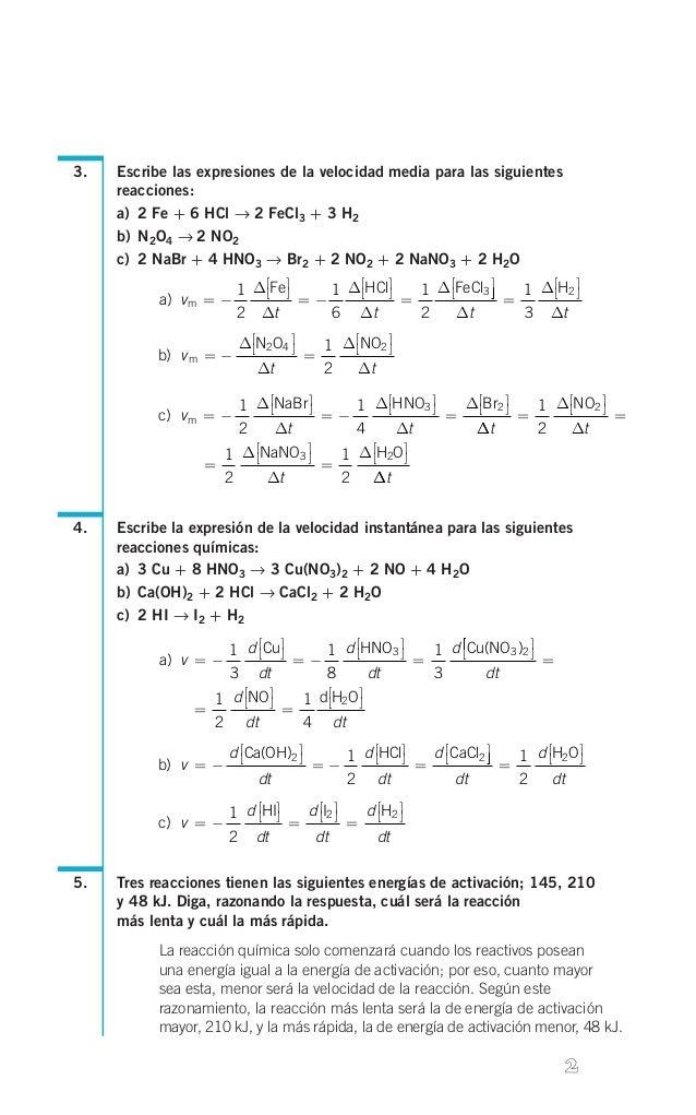 ejercicios resueltos cinetica quimica 2 bachillerato pdf