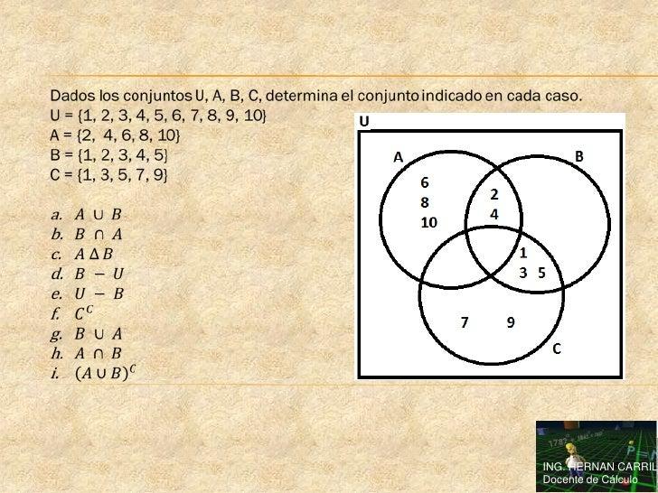 Ejercicios de teoria de conjuntos resueltos