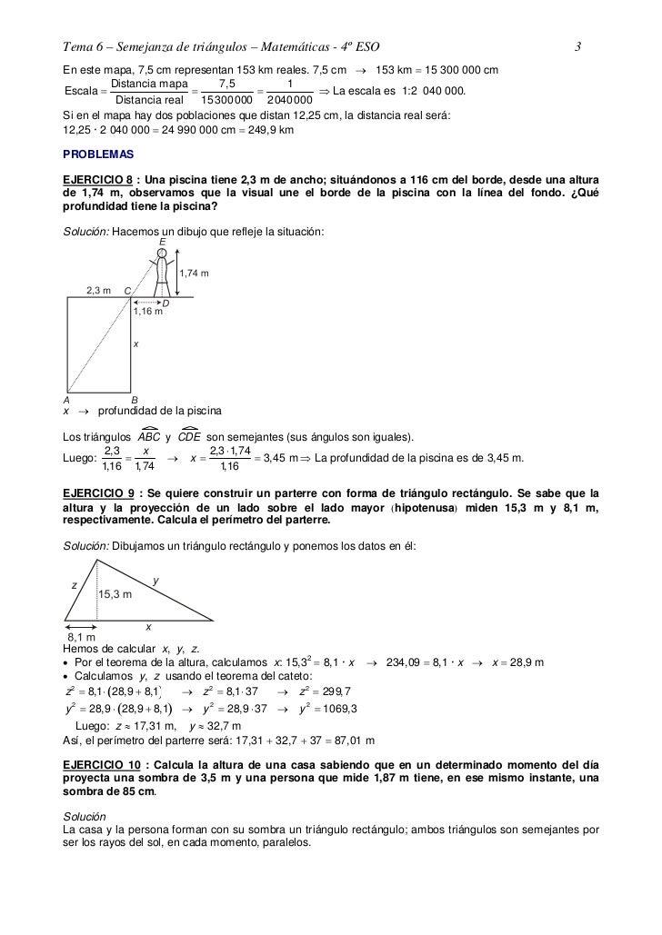 Ejercicios resueltos yyyysemejanza de triángulos Slide 3