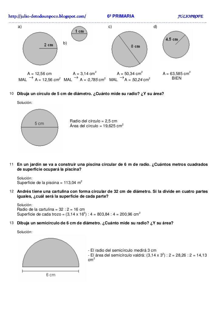 Ejercicios solucionarios circunferencia y c rculo for Como saber por donde pierde una piscina