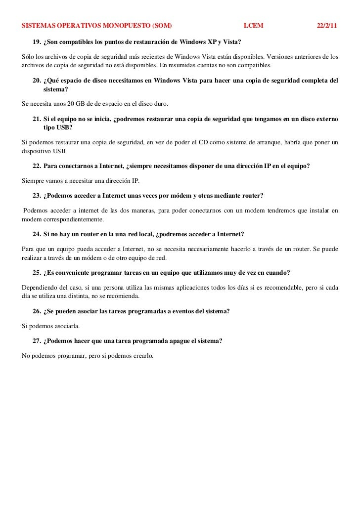 SISTEMAS OPERATIVOS MONOPUESTO (SOM)                                             LCEM                        22/2/11    19...