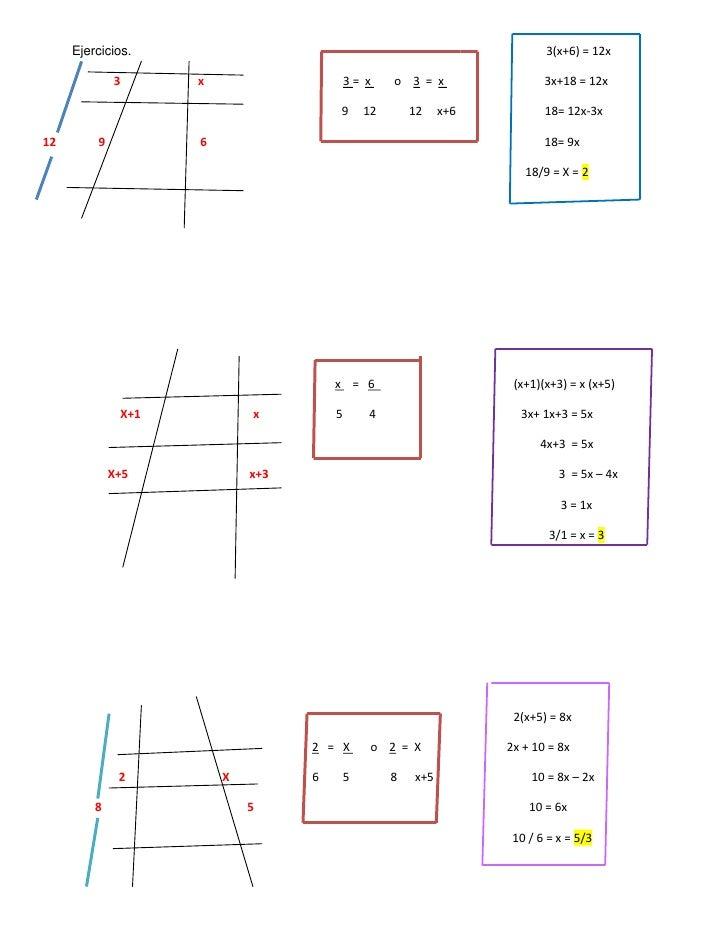 Ejercicios.3(x+6) = 12x<br />                        3x                                               3 =  x      ...
