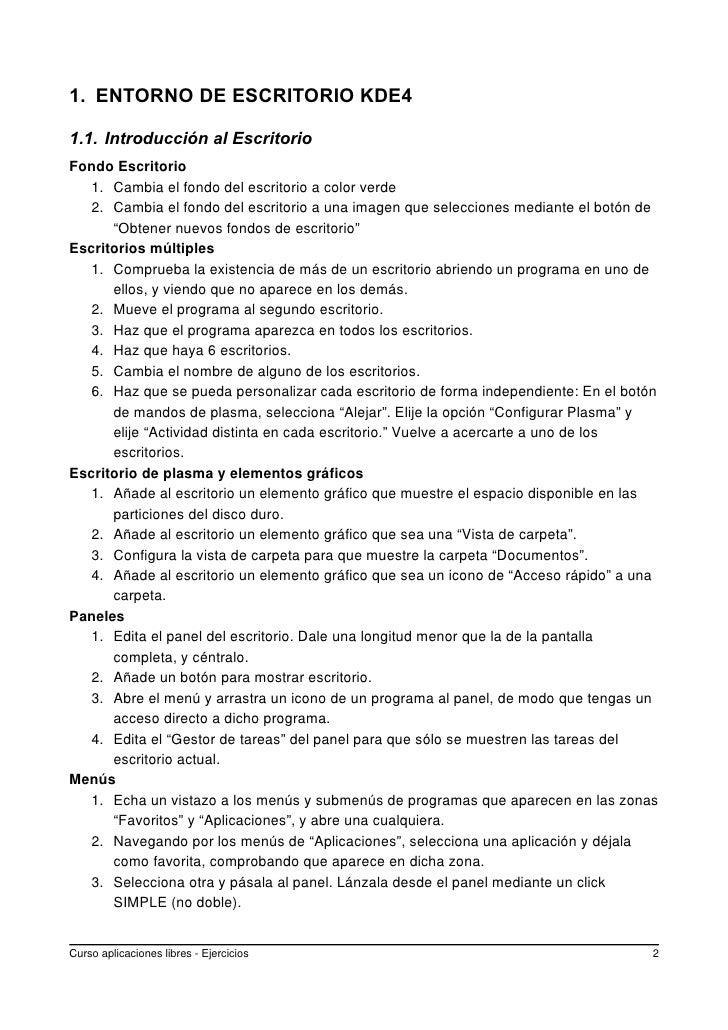 1. ENTORNO DE ESCRITORIO KDE4  1.1. Introducción al Escritorio Fondo Escritorio    1. Cambia el fondo del escritorio a col...