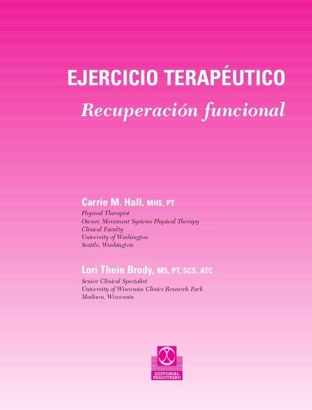 libro ejercicio terapeutico recuperacion funcional pdf