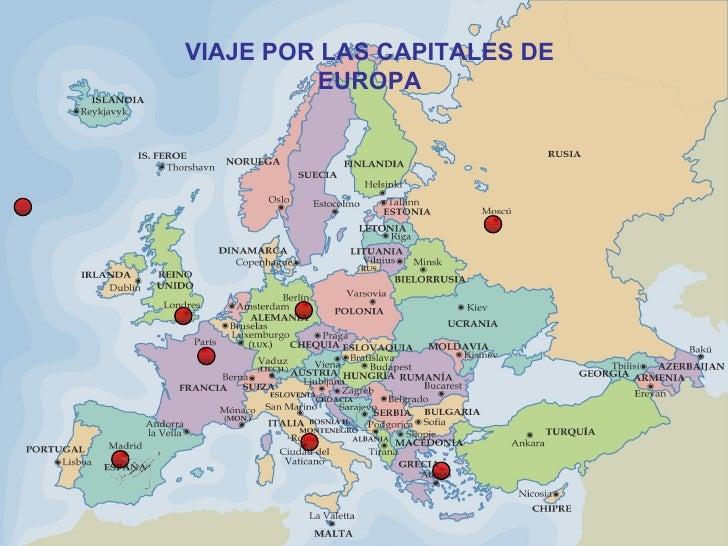 VIAJE POR LAS CAPITALES DE EUROPA
