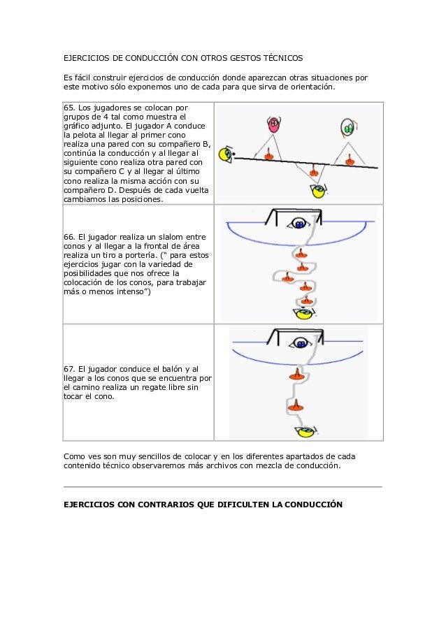 EJERCICIOS DE CONDUCCIÓN CON OTROS GESTOS TÉCNICOSEs fácil construir ejercicios de conducción donde aparezcan otras situac...