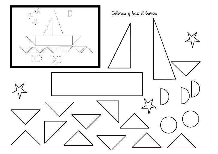 Dibujos De Figuras Geometricas Para Colorear E Imprimir: Ejercios De Figuras Geométricas