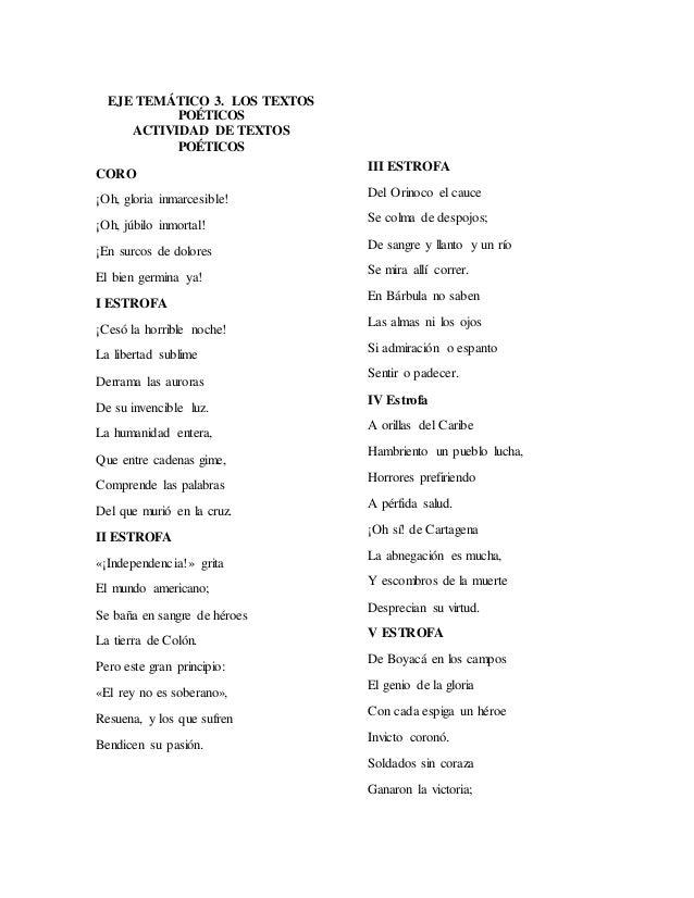 Eje Temático 4 Textos Poéticos