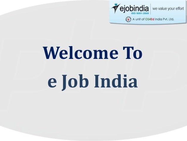 Welcome To e Job India
