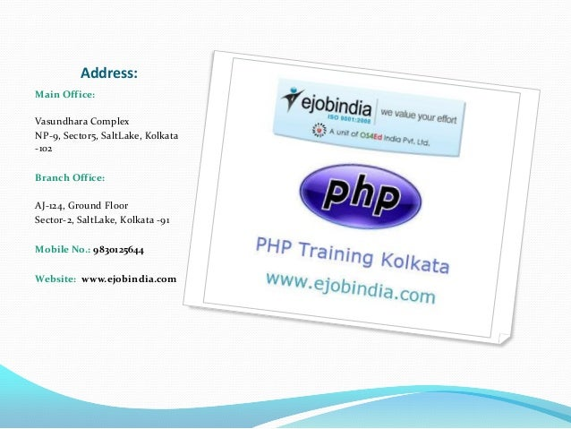 Ejob India the ultimate destination for php training