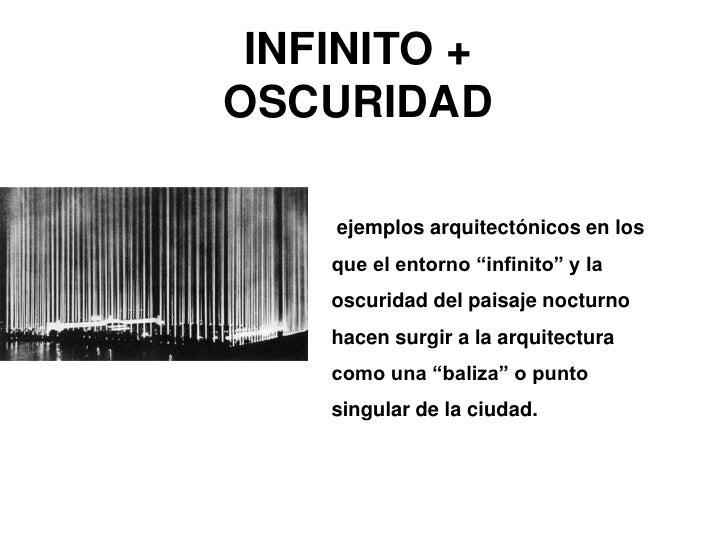 """INFINITO + OSCURIDAD <br /> ejemplos arquitectónicos en los que el entorno """"infinito"""" y la oscuridad del paisaje nocturno ..."""