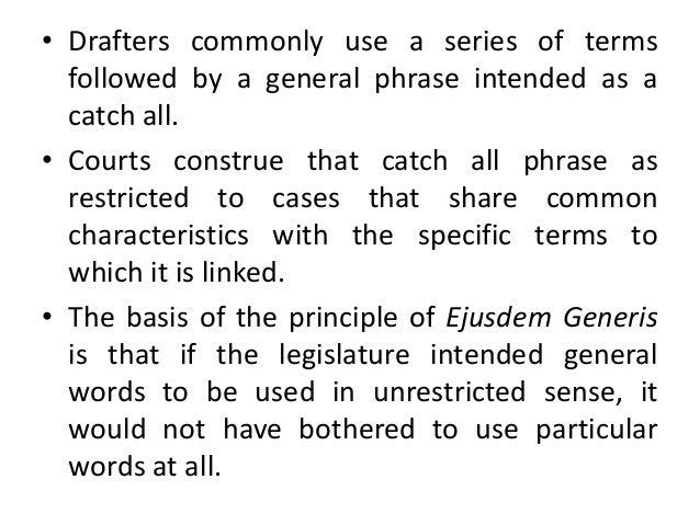 what is ejusdem generis
