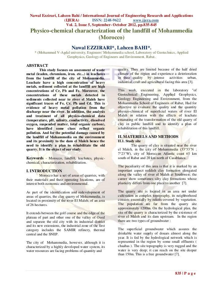Nawal Ezzirari, Lahcen Bahi / International Journal of Engineering Research and Applications                     (IJERA)  ...