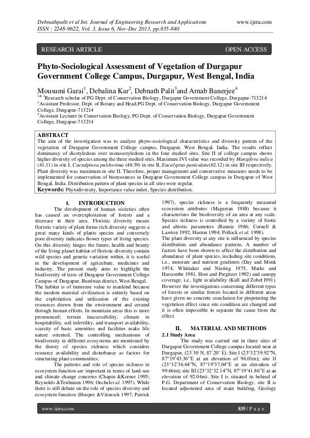 Debnathpalit et al Int. Journal of Engineering Research and Applications ISSN : 2248-9622, Vol. 3, Issue 6, Nov-Dec 2013, ...