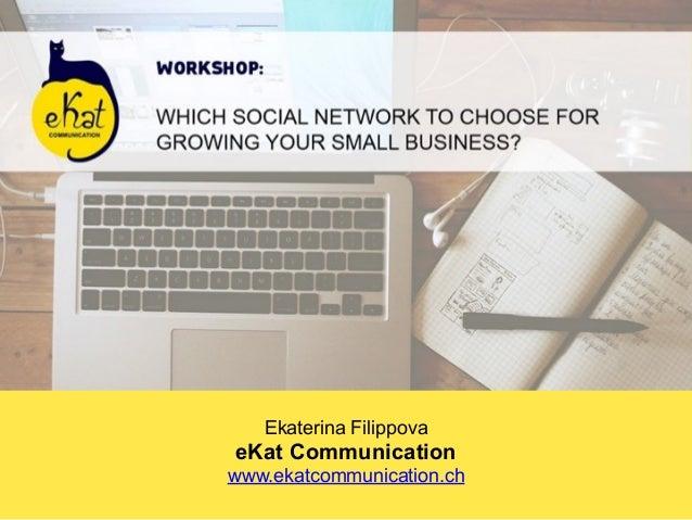Ekaterina Filippova eKat Communication www.ekatcommunication.ch