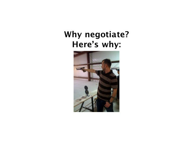 Why negotiate?  Here's why: