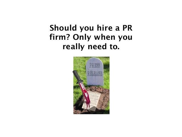 PR firms = Relationships Introductions do the same