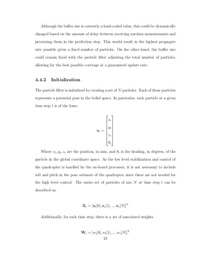 Particle Filter Localization for Unmanned Aerial Vehicles