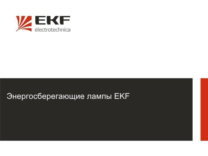 Энергосберегающие лампы EKF                              1
