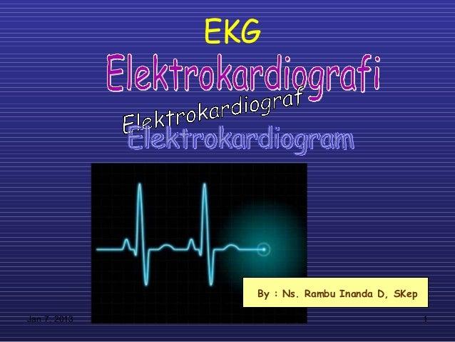 EKG                By : Ns. Rambu Inanda D, SKepJan 7, 2013                                     1