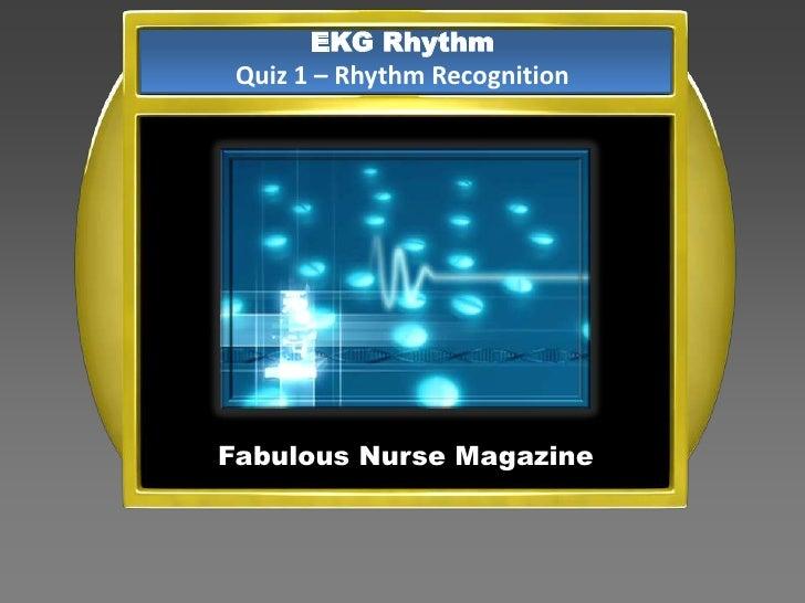 EKG Rhythm Quiz 1 – Rhythm RecognitionFabulous Nurse Magazine