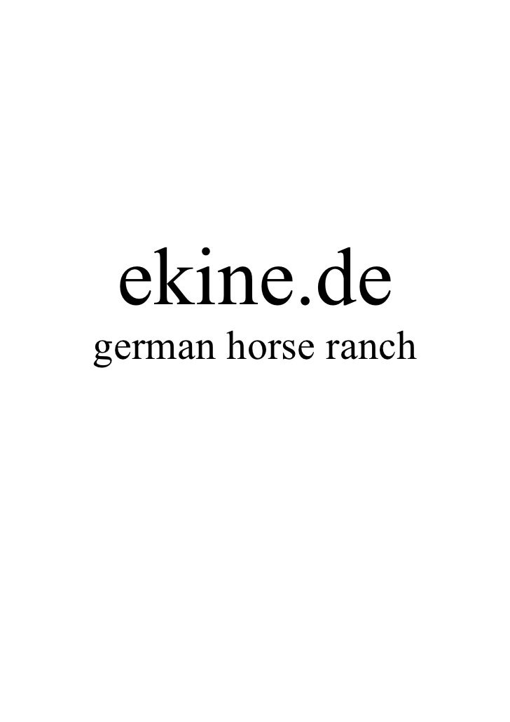 ekine.de german horse ranch