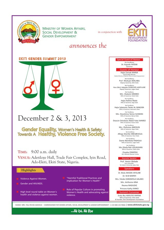 Ekiti Gender Summit 2013
