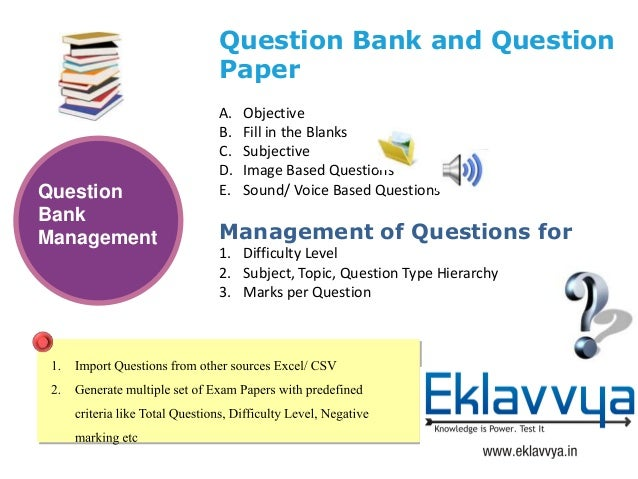 Online Examination System- Eklavvya Slide 3