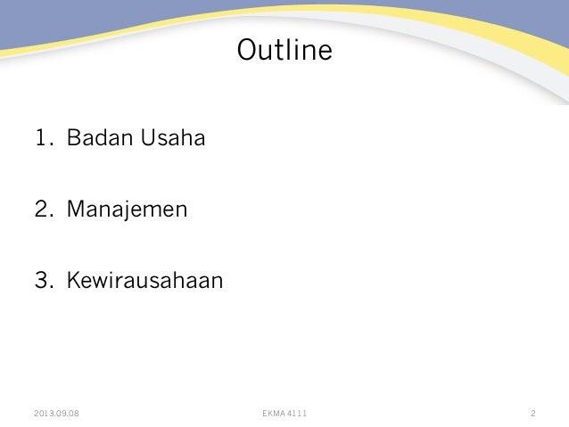 EKMA 4111: Modul 2 Slide 2