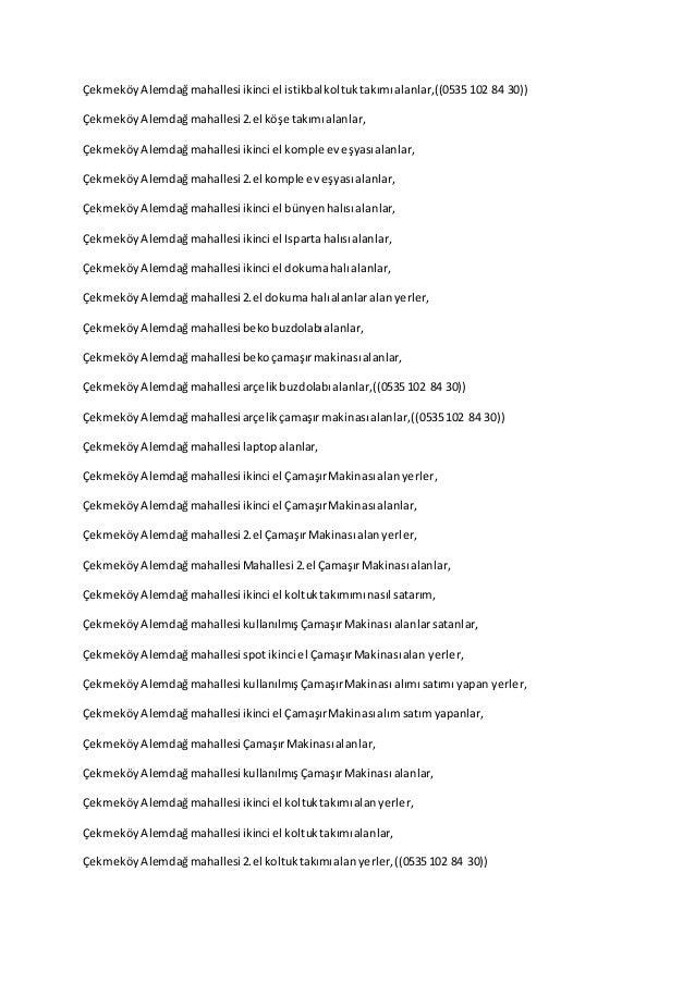 ÇekmeköyAlemdağmahallesi ikinci el istikbalkoltuktakımıalanlar,((0535 102 84 30)) ÇekmeköyAlemdağmahallesi 2.el köşe takım...
