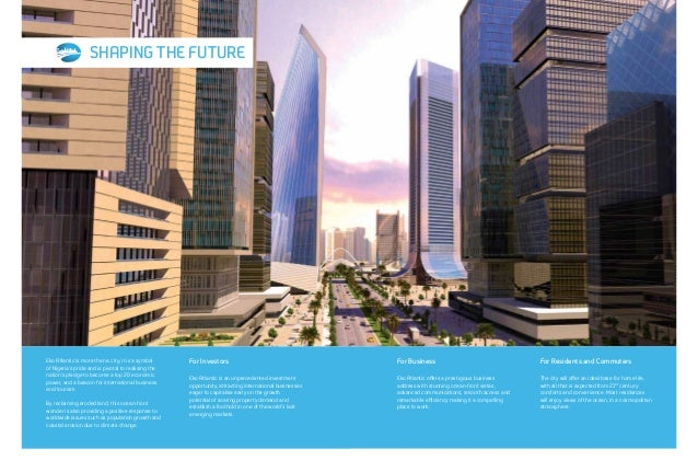 10 MILLION SQUARE METRES OF OPPORTUNITY Investing in Eko Atlantic captures the potential of a continent, which many acknow...