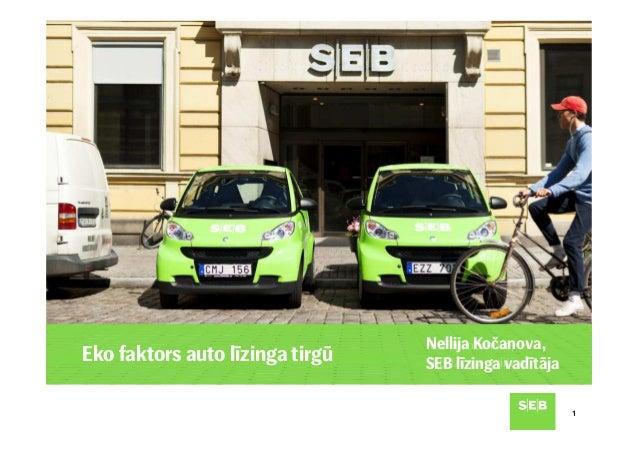 11 Eko faktors auto līzinga tirgū Nellija Kočanova, SEB līzinga vadītāja Nellija Kočanova, SEB līzinga vadītāja