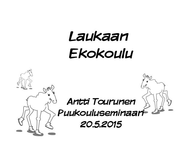 Laukaan Ekokoulu Antti Tourunen Puukouluseminaari 20.5.2015
