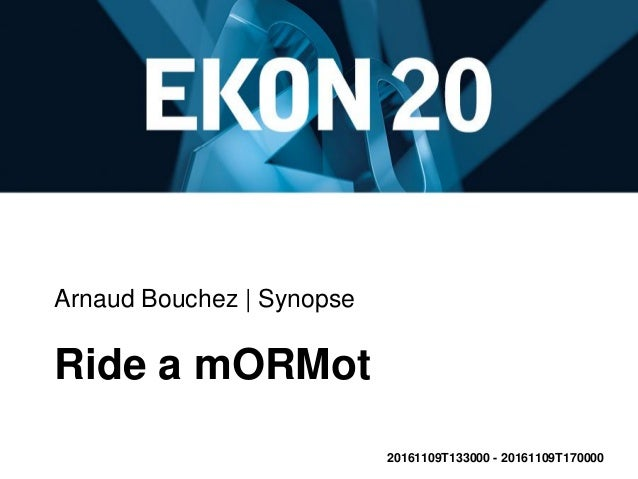 Arnaud Bouchez | Synopse Ride a mORMot 20161109T133000 - 20161109T170000