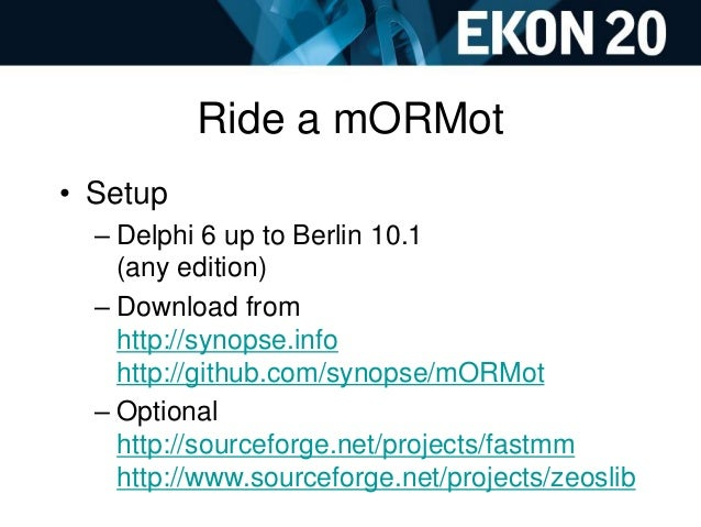 Ekon20 mORMot WorkShop Delphi