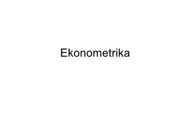Ekonometrika