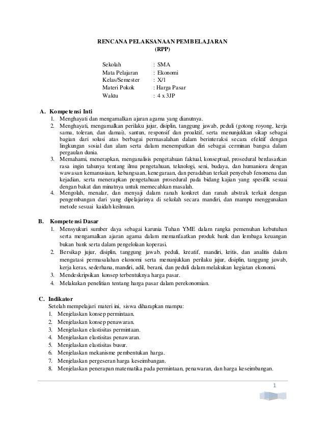 Ekonomi Esis Kur 2013 Rpp Kelas X Bab 06