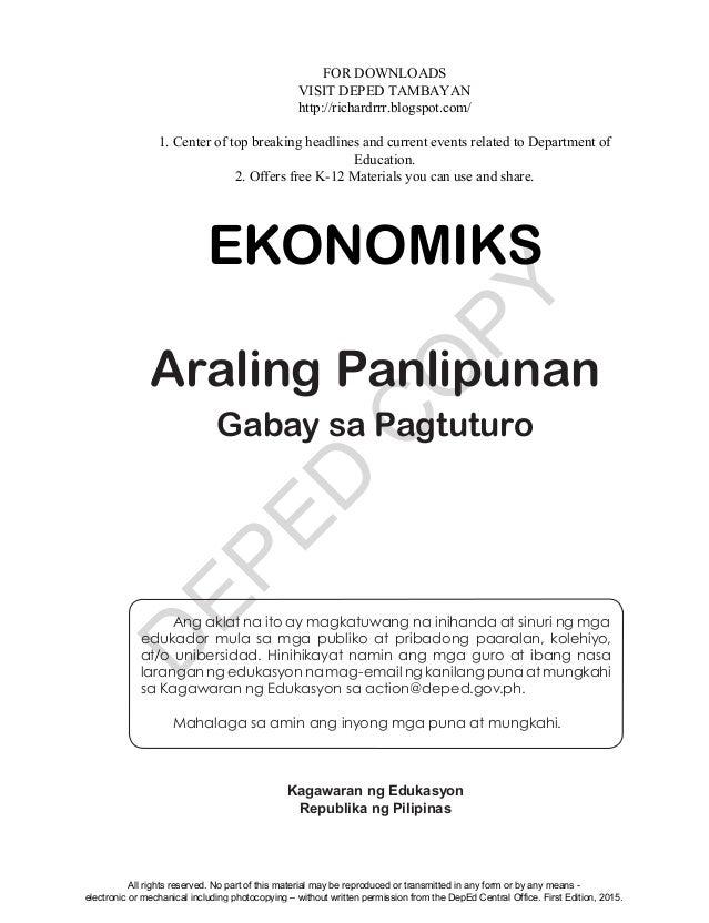 Ekonomiks teaching guide unit 3