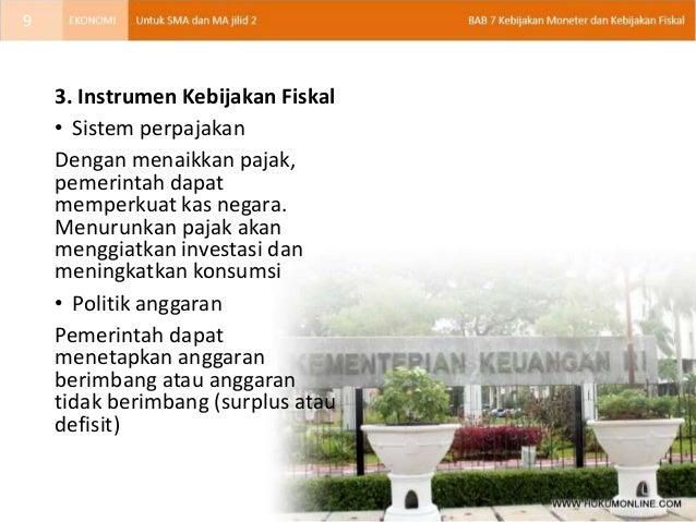 Bab 07 Kebijakan Moneter & Kebijakan Fiskal