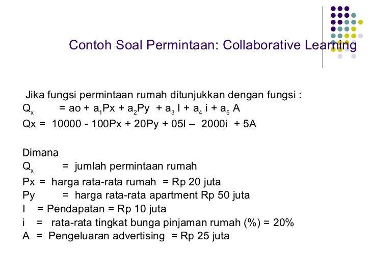 Contoh Soal Ekonomi Mikro Permintaan Dan Penawaran Bro Gol 111