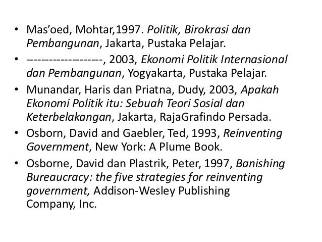 reinventing government thesis of osborne and gaebler Applying this broader thesis to the particular context of the local governments, we  could  osborne and gaebler labelled this phenomenon 'entrepreneurial  government'  osborne d gaebler t 1992 reinventing government: how the.