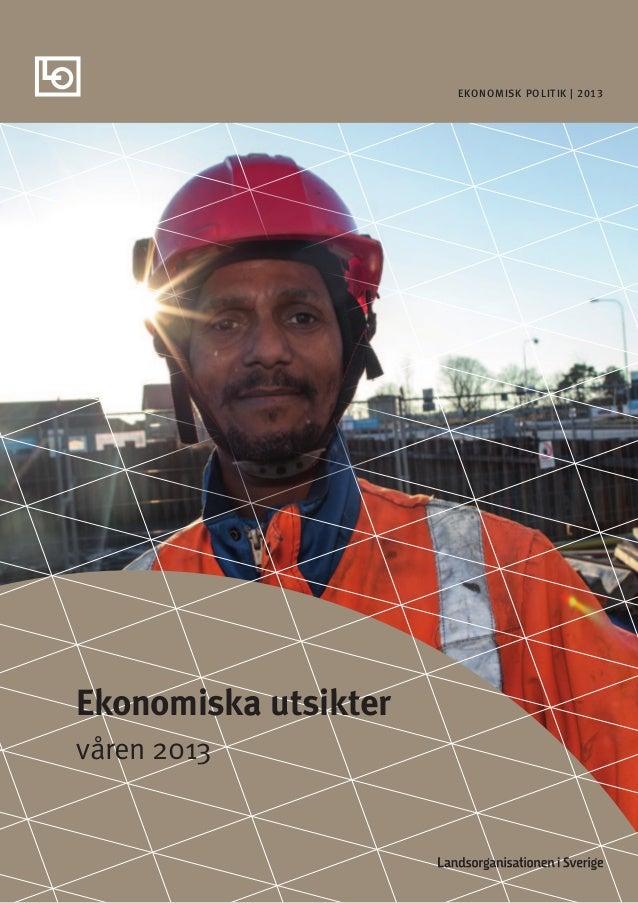 Ekonomisk politik | 2013Ekonomiska utsiktervåren 2013