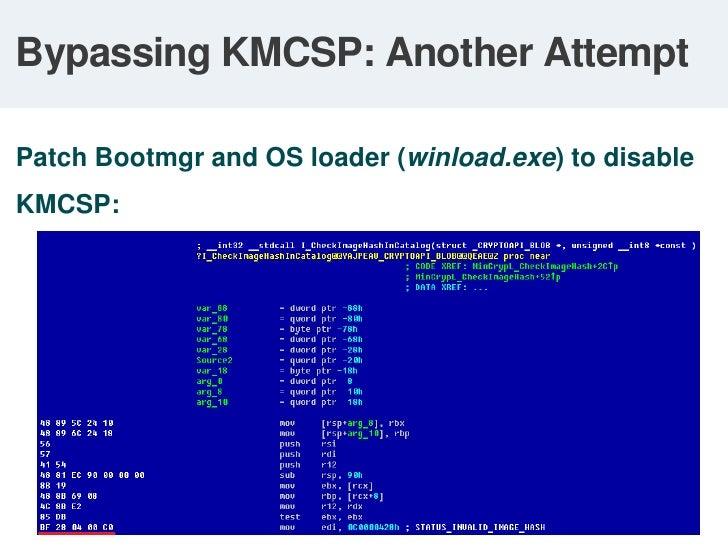 Attacking Windows Bootloader<br />