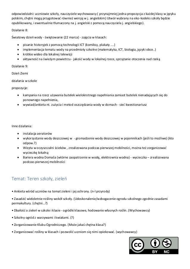 Eko Plan Szkoły W Jaworzni