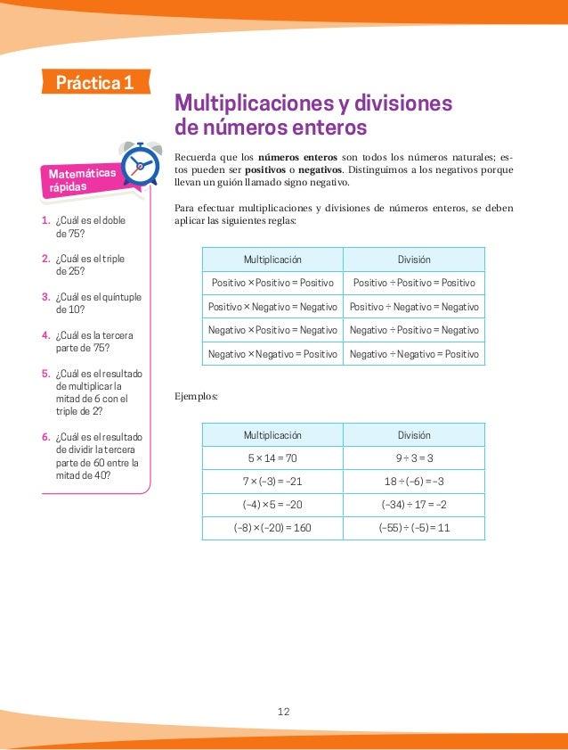 13 ¿Existe alguna relación entre la multiplicación y la división de números enteros? Pregunta de reflexión Mis respuestas ...